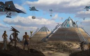 pyramid, UFO, Egypt