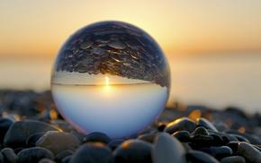 closeup, water drops, stones