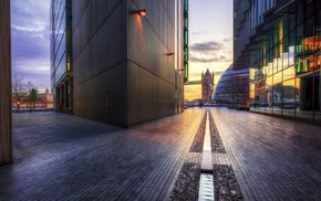 reflection, England, HDR, London, building