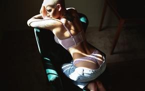 tattoos, Pants down, samii ryan, lingerie, girl, ass