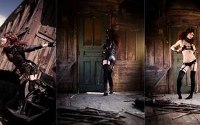 model, girl, collage