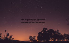 nature, night, sunset, evening, quote, stars