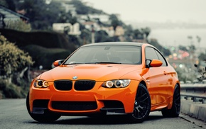 BMW M3 GTS, orange, car, BMW, German car