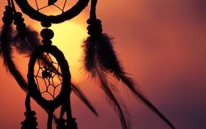 dreamcatchers, symbols, silhouette
