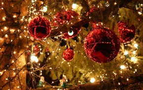 Christmas ornaments, lights