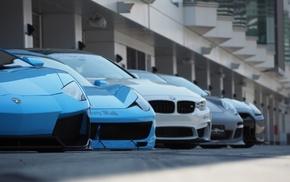Lamborghini, Ferrari, Nissan GTR, Ferrari 458 Italia, BMW, Porsche