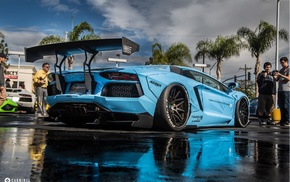 LB Performance, Lamborghini Aventador, Lamborghini, vehicle, blue cars
