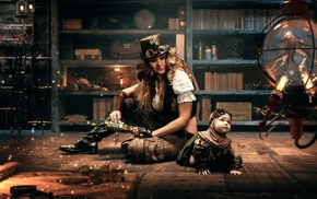 steampunk, model, girl