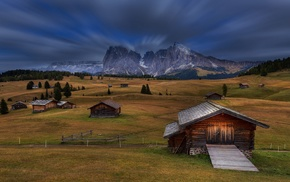 nature, landscape, mountain, grass, Italy, Dolomites mountains