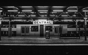 monochrome, photography, train, Sydney