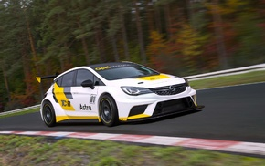 motion blur, Opel Astra TCR, race tracks, car