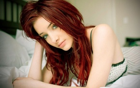 Susan Coffey, green eyes, redhead