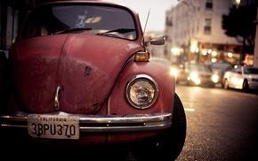Volkswagen, urban, old car, car, Volkswagen Beetle