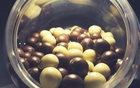 white, chocolate, black, ball, walls