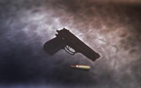 bullet, weapon, pistol, gun