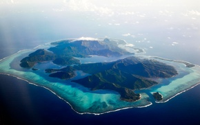 tropical, nature, atolls, aerial view, sea, landscape