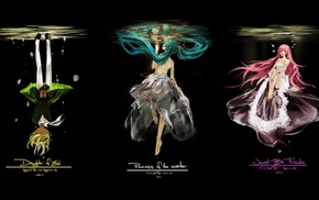 Vocaloid, Kagamine Rin, Hatsune Miku, anime girls, Megurine Luka