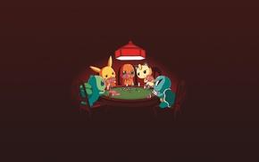 Charmander, Squirtle, Bulbasaur, Meowth, Pikachu, Pokemon