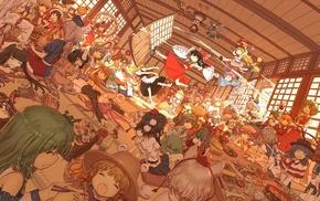 Murasa Minamitsu, Kirisame Marisa, Shameimaru Aya, Kochiya Sanae, Reisen Udongein Inaba, Yagokoro Eirin