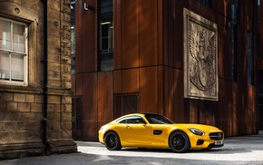 Mercedes, AMG GT, yellow cars, vehicle, car