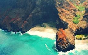 beach, nature, coast, waves, landscape, sea