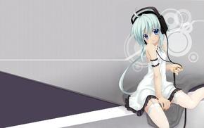 thigh, highs, manga, anime girls, anime, headphones