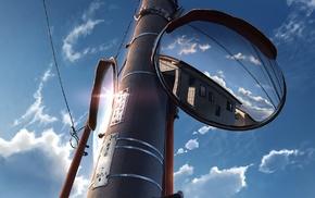 utility pole, anime