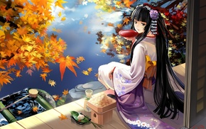 Japanese clothes, sake, anime, kimono, anime girls, original characters