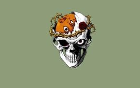 Kentaro Miura, rose, thorns, Berserk, skull, Beherit