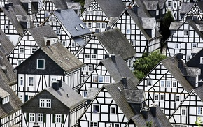 Germany, house, town, Freudenberg, architecture