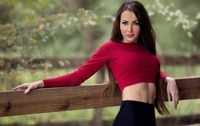 straight hair, wood, nature, Leah Serres, skirt, flat belly