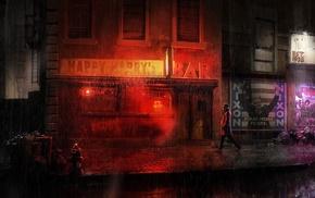 Watchmen, DC Comics, Rorschach, rain