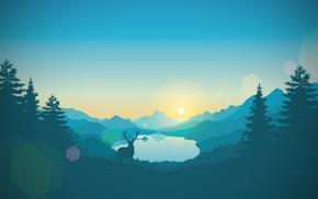 deer, forest