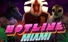 Hotline Miami, pink, Hotline Miami 2