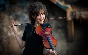 Lindsey Stirling, brunette, dubstep, violin, girl, music