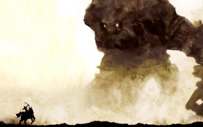 Colossal Titan, artwork, fantasy art, Shadow of the Colossus