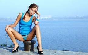girl, model, Irina J, brunette, panties, teen