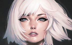 eyes, kuvshinov, ilya, white hair