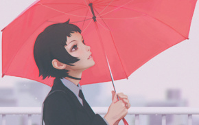 umbrella, emotions, kuvshinov, ilya, rain