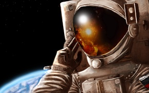 space, astronauts, Russian, Earth