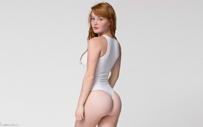 bodysuit, girl, freckles, Kacy Anne Hill, redhead, ass
