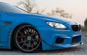 Prior Design, blue, car, Vossen, BMW 650i, BMW