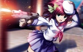 Angel Beats, Nakamura Yuri, gun, anime, anime girls