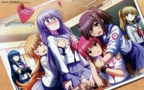 Iwasawa Masami, Sekine Shiori, Irie Miyuki, school uniform, Shiina Angel Beats, Yusa Angel Beats