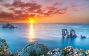 sunset, landscape, Spain, nature