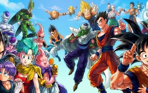 Piccolo, Yamcha, Dragon Ball Z, Gotenks, anime, Dragon Ball