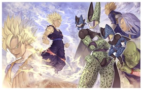 Vegeta, Piccolo, anime, Trunks character, Cell character, Dragon Ball