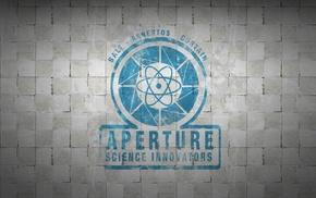 Portal, white, video games, Aperture Laboratories, aperture