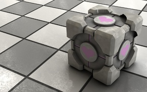 cube, Portal, video games, Companion Cube