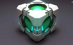Portal, Companion Cube, video games, cube
